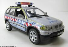 BMW x5 Police 2002 scala 1:43 come nuovo OVP