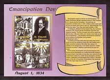ST. VINCENT & THE GRENADINES 2002 #3042 S/S VF NH, EMANCIPATION DAY ANNIVERSARY