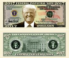 President Donald Trump Inaugural 2017 Dollar Bill Fake Funny Money Novelty Note