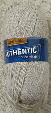 35 off 100g Balls King Cole Authentic Cotton Mix DK Knitting Yarn 1262 Sahara