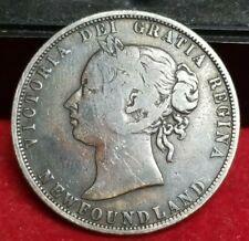 1874 50c. New Foundland Half Dollar