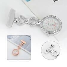 Crystal Stylish Nurse Watch Brooch Tunic Fob Watch Doctor Medical Best Gift uk