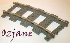 LEGO SPARES PARTS 2867 DARK GREY TRAIN TRACK CURVE 9V