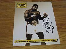 Boxing Hall of Famer LARRY HOLMES World Champion signed 8x11 Photo COA