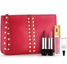 🍒Elizabeth Arden Perfect Pout Lipstick Set Red Bag Wear Pretty Sweet Pink Gloss