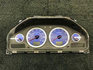 05-06 Volvo S60R V70R Instrument Cluster Speedometer 8602897 Blue Gauges