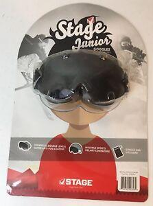Stage Junior Goggles Ski Snowboard Snowmobile Winter Glasses Age 7-12