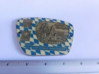 Vintage German Automobile Club Porcelain Enamel Metal Car Grille Badge Sign 481