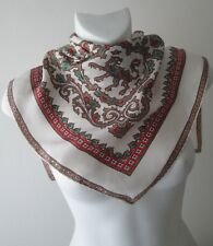 A Stunning Vintage Paisley/Griffin Pure Silk Scarf Rolled Hem (8185X)