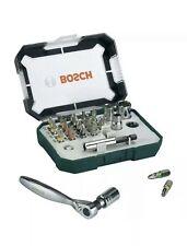 """Bosch Set inserti e Bussole 26pz con Cricchetto attac 1/4"""" reversibile magnetico"""