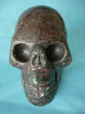 Crystal Skull red-green garnet large size