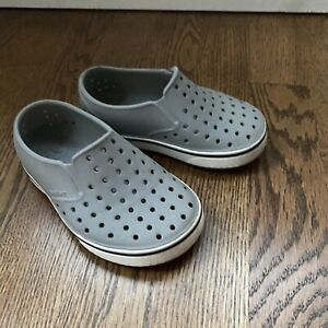 Infant Toddler Unisex NATIVE Miles Navy White Slip On Loafers Shoes Size C8