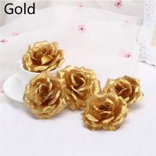 5/10/20pcs Artificial Rose Flower Floral Heads Wedding Decor DIY Wreath Gifts