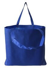 100 PCS Blue Color Non Woven Reusable Grocery Tote Bag Large Bulk Free Shipping