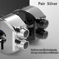 2X Latch & Momentary Switch Handlebar 3 Buttons Silver for Motorcycle Cafe Race