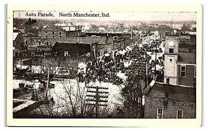 Auto Parade, North Manchester, IN Postcard *7E8