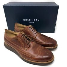 Cole Haan Original Grand Mens 8.5 Oxfords Long Wing Leather Woodbury Chestnut