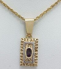 ALEXANDRITE 0.30 Carats FILIGREE PENDANT 14k YELLOW GOLD **** Free shipping ****