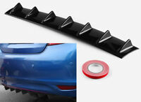 "33"" x 6"" Shark Fin Universal Rear Bumper Lip Diffuser 7 Fin Gloss Black ABS"