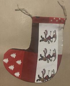 Handmade Christmas Stocking Drawstring Gift Bag