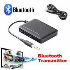 3.5mm Bluetooth Stereo Music Transmitter A2DP Audio Adapter Dongle Fr TV Speaker