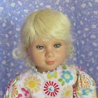 Playhouse BRENDA Pale Blond Full Cap Doll Wig Sz.14-15 Baby, Toddler, Unisex
