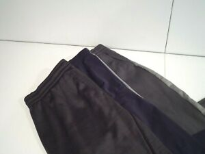 Lot of 3 Champion & Tek Gear Men's Sweatpants Size Large Warm Up Athletic Gray