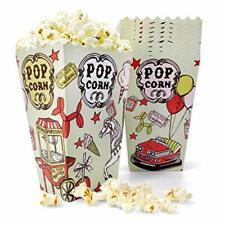 46 Oz 50 Count Amusement Paper Popcorn Boxes Disposable Buckets