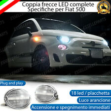 PLACCHETTE A LED FRECCE LATERALI 18 LED SPECIFICHE FIAT ABARTH 500 500c CANBUS