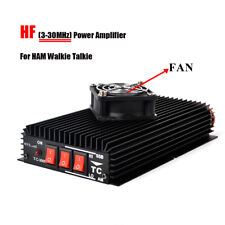 HYS Ham HF Power Amplifier 3-30MHz with Fan For Handheld CB Two Way Radio