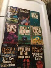9 SciFi Lot ROBERT A HEINLEIN 8 Berkley Medallion Classics 3 Hugos Good READERS
