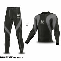 Mens Compression Baselayers Suite Top Skins Body Armour Rash guard  ROXX Sports