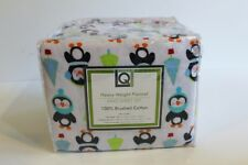 Living Quarters Heavy Weight Flannel Sheet Set Queen Size Penguins Retail $100