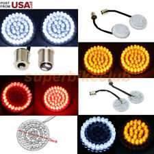 Bullet Style Front 1157/Rear 1156  LED Turn Signal Inserts For Harley Davidson
