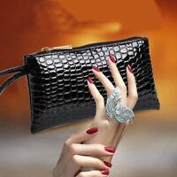 Portable Crocodile Purse Long Large Bag Coin Purse Bag Crocodile Bag Wallet