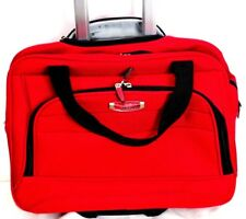 Delsey Helium Ultimate Carry On Business Case Wheels Burgundy Laptop Travel Bag