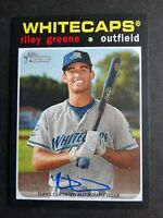 2020 Topps Heritage Minor League Riley Greene Whitecaps Real One Auto Card