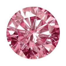 0.16 Ct Round Cut Moissanite Fancy Pink 3.5mm Diameter Loose Stone C&C