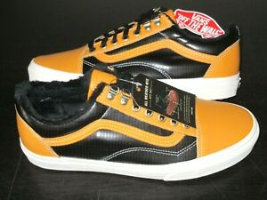 Vans Mens Old Skool MTE Leather All Weather Skate Shoes Apricot Black Size 10