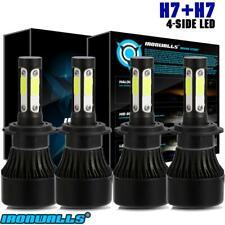 IRONWALLS H7 H7 LED Headlight Hi/Lo Beam Kit for Jetta 2005-2018 Passat 2001-16
