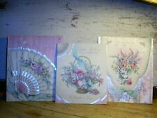 Vintage lot/3 Unused Valentine's Day Message Greeting Cards by Volland U.S.A.