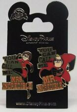 Disney Pins * Mr And Mrs Incredible - 2 Pins * Single New on Card
