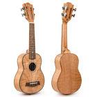 Soprano Ukulele Okoume 21 Ukelele Hawaii Tiger Flame Classical Guitar for Kids for sale
