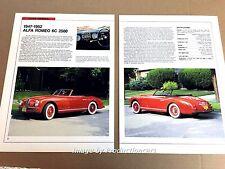 Alfa Romeo 6C 2500 Original Car Review Print Article J671 1947 1949 1950 1951