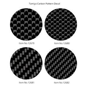 TAMIYA CARBON DECAL- SCALA 1/12 1/24 AUTO E MOTO - DECAL CARBONIO VARIE TRAME