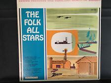 Pete Seeger ZENITH Presents Folk All Stars Columbia Country Lp Vinyl Disc Record