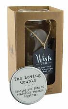 Splosh The Loving Couple Wish Jar Gift Idea Jars Hold Special Wishes Inside