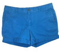 Banana Republic Women's City Boyfriend Cuffed Shorts Size 10 Bright Teal    2356