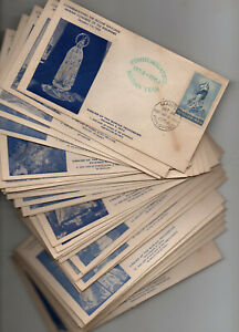PHILIPPINES FDC 1954 Marian Year Rare Complete #1-35 Various Province Collection