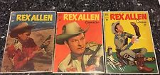 REX ALLEN Four Color #316 Rex Allen #1,#2, #3, #21 Western Movie Star Comics
